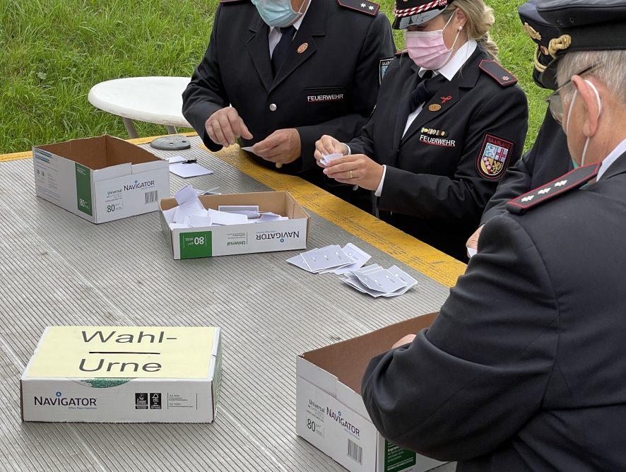 Wehrführerwahl 2021 & Staffelübergabe bei der Jugendfeuerwehr